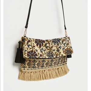 Hot style Fabric Envelope Bags With Tassels, NWT